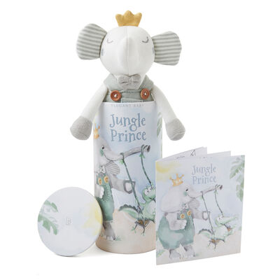 Elegant Baby Pierre Elephant Knit Toy and Book Set
