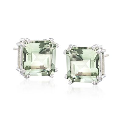 9.00 ct. t.w. Green Prasiolite Earrings in Sterling Silver