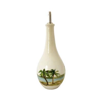 """Abbiamo Tutto """"Palm Breezes"""" Ceramic Oil Cruet from Italy"""