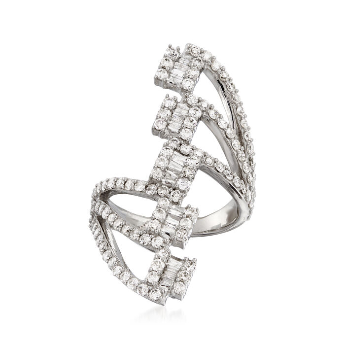 1.96 ct. t.w. Diamond Ring in 14kt White Gold. Size 7, , default