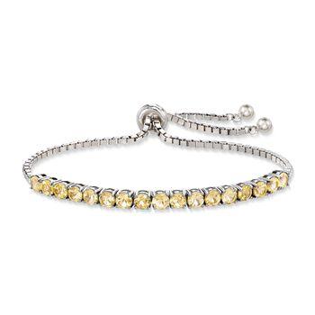 4.20 ct. t.w. Citrine Bolo Bracelet in Sterling Silver, , default
