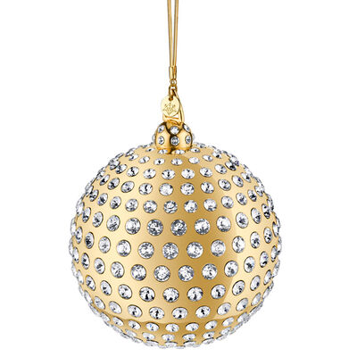 Crystamas Swarovski Crystal 24kt Gold-Plated Ball Ornament , , default