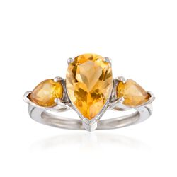 4.00 ct. t.w. Citrine Ring in Sterling Silver, , default