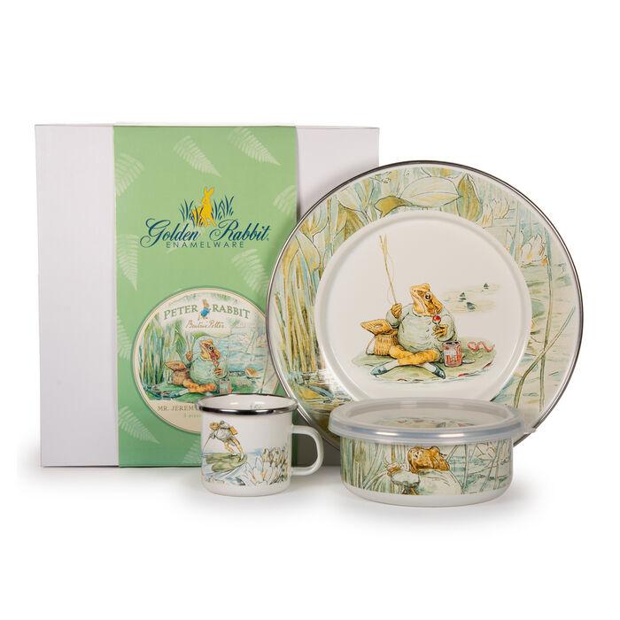 "Golden Rabbit ""Jeremy Fisher"" 3-pc. Child's Dinnerware Gift Set, , default"