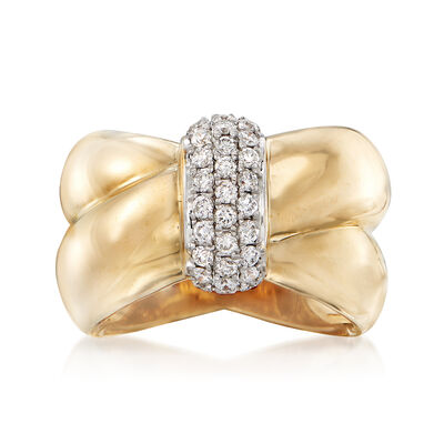 .51 ct. t.w. Diamond Twist Ring in 14kt Yellow Gold, , default
