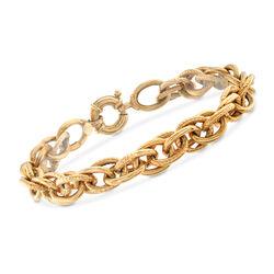 C. 1990 Vintage 18kt Yellow Gold Link Bracelet, , default