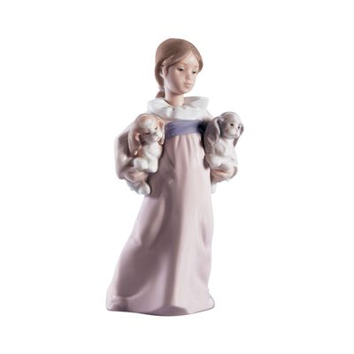 "Lladro ""Arms Full of Love"" Porcelain Figurine, , default"