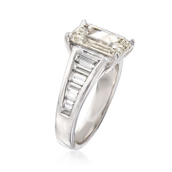 5.02 ct. t.w. Diamond Ring in 18kt White Gold
