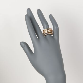 .25 ct. t.w. Diamond Highway Ring in 18kt Yellow Gold Over Sterling Silver