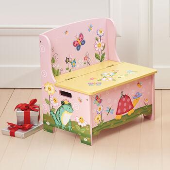 Magic Garden Child's Wooden Storage Bench, , default
