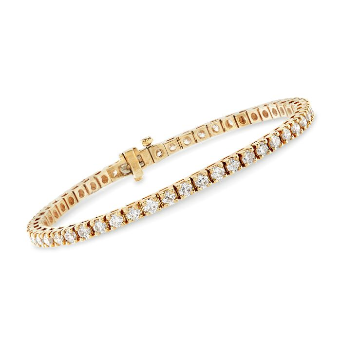 "5.00 ct. t.w. Diamond Tennis Bracelet in 14kt Yellow Gold. 7"""
