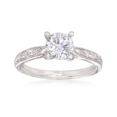 Gabriel Designs 14kt White Gold Engagement Ring Setting