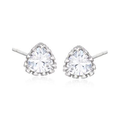 1.20 ct. t.w. CZ Stud Earrings in Sterling Silver, , default