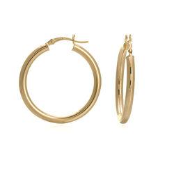 "14kt Yellow Gold Polished Hoop Earrings. 1 1/8"", , default"