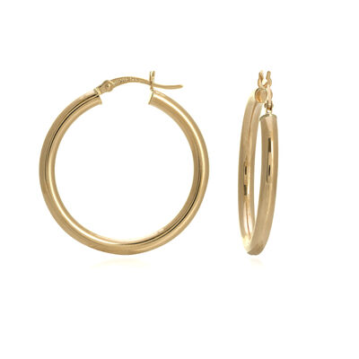 "14kt Yellow Gold Polished Hoop Earrings. 1 1/8"", , default"