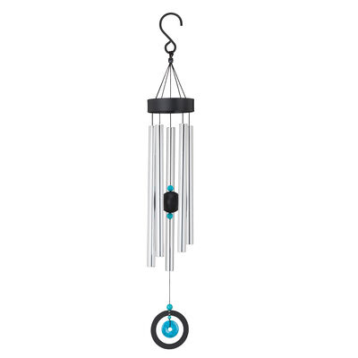 Regal Turquoise Healing Stone Wind Chimes, , default