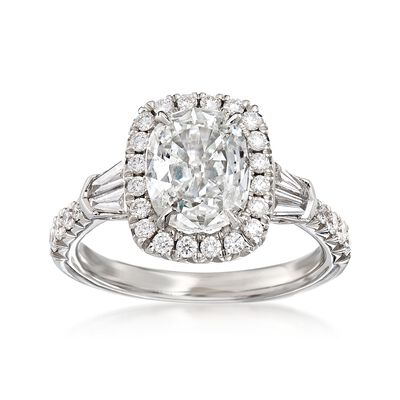 Henri Daussi 2.28 ct. t.w. Certified Diamond Engagement Ring in 18kt White Gold