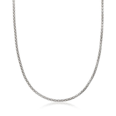 Italian Popcorn Chain in Sterling Silver, , default