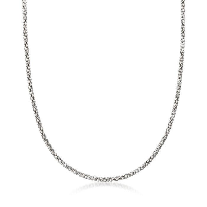 Italian Popcorn Chain in Sterling Silver, , default