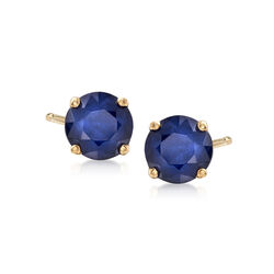 1.15 ct. t.w. Sapphire Stud Earrings in 14kt Yellow Gold, , default