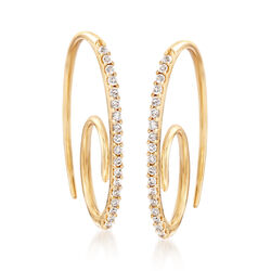 .21 ct. t.w. Diamond Swirl Drop Earrings in 14kt Yellow Gold, , default