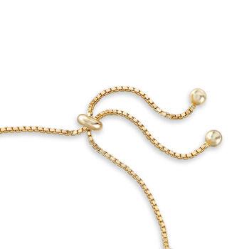 5.52 ct. t.w. Multicolored CZ Bolo Bracelet in 18kt Gold Over Sterling, , default