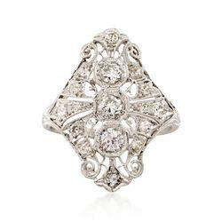 C. 2000 Vintage 1.05 ct. t.w. Diamond Dinner Ring in Platinum. Size 6.5, , default