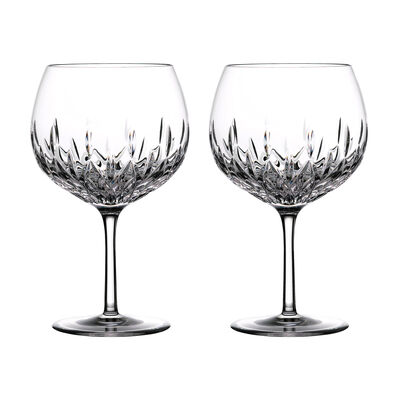 "Waterford Crystal ""Gin Journeys"" Set of Two Lismore Balloon Glasses"