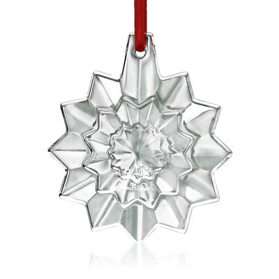 Baccarat 2019 Annual Crystal Christmas Snowflake Ornament, , default