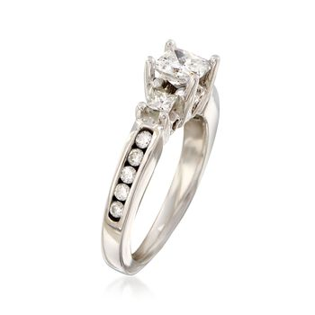 C. 1990 Vintage .95 ct. t.w. Diamond Ring in 14kt White Gold. Size 4.75, , default