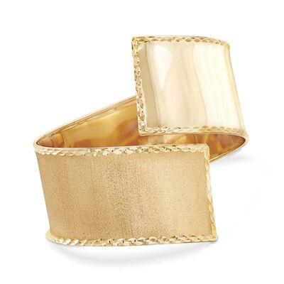Italian 14kt Yellow Gold Twist Cuff Bracelet, , default