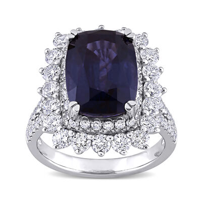 6.20 Carat Purple Spinel and 1.71 ct. t.w. Diamond Ring in 14kt White Gold, , default