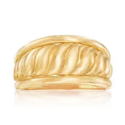 22kt Yellow Gold Framed Shrimp Ring, , default