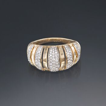 .50 ct. t.w. Diamond Striped Ring in 14kt Yellow Gold, , default