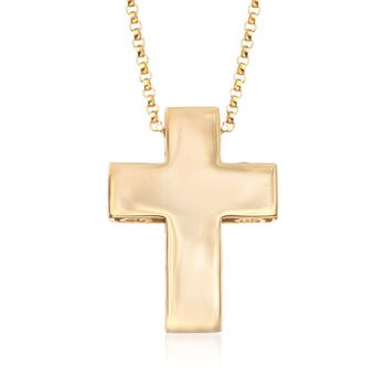 "Roberto Coin ""Pois Moi"" 18kt Yellow Gold Cross Pendant. 16"", , default"
