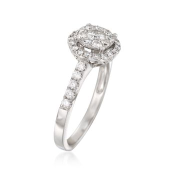 .75 ct. t.w. Diamond Halo Ring in 14kt White Gold