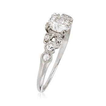C. 1950 Vintage .68 ct. t.w. Diamond Ring in Platinum. Size 6