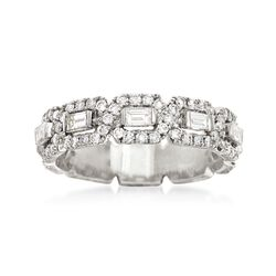 1.16 ct. t.w. Baguette and Round Diamond Ring in 14kt White Gold, , default