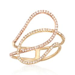 .43 ct. t.w. Diamond Loop Ring in 14kt Two-Tone Gold, , default