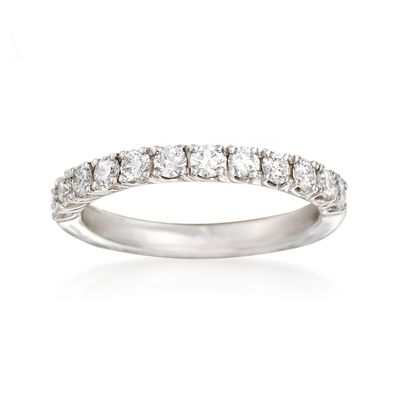 Henri Daussi .60 ct. t.w. Diamond Wedding Ring in 18kt White Gold, , default