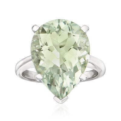 8.75 Carat Prasiolite Ring in Sterling Silver