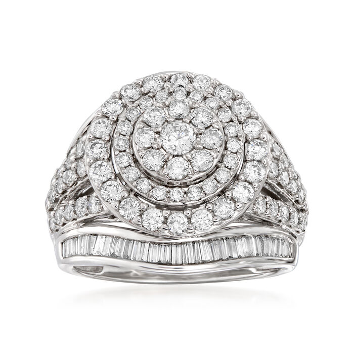 1.75 ct. t.w. Diamond Double-Circle Ring in 14kt White Gold, , default