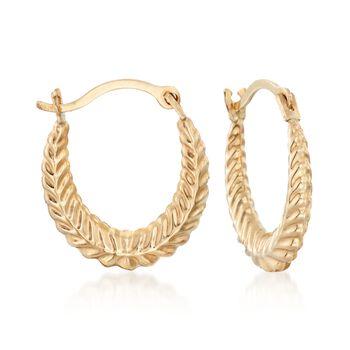 14kt Yellow Gold Jewelry Set: Three Pairs of Huggie Hoop Earrings, , default