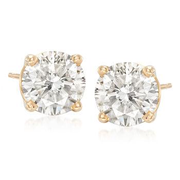 3.00 ct. t.w. Diamond Stud Earrings in 18kt Yellow Gold, , default