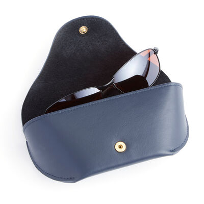 Royce Blue Leather Sunglasses Case