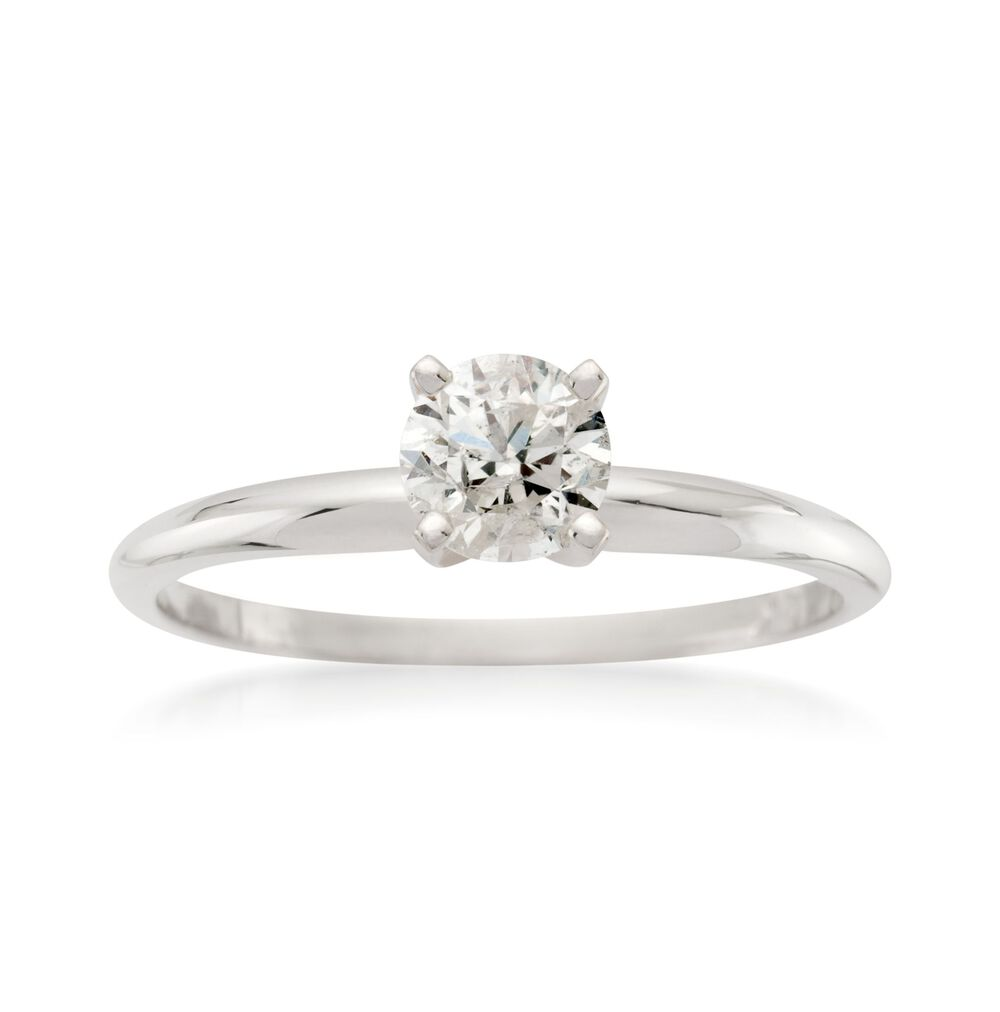 50 Carat Diamond Solitaire Ring In 14kt White Gold Ross Simons