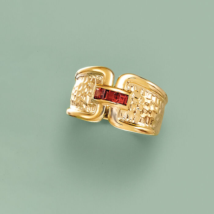 .30 ct. t.w. Garnet Ring in 18kt Gold Over Sterling
