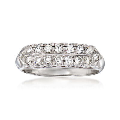 C. 1950 Vintage .40 ct. t.w. Diamond Double-Row Ring in 14kt White Gold