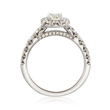 Henri Daussi 1.53 ct. t.w. Diamond Halo Engagement Ring in 18kt White Gold, , default