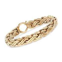 "14kt Yellow Gold Braided Link Bracelet. 7.5"", , default"